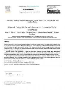Network Design Model with Evacuation Constraints ... - ScienceDirect