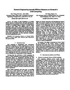 Network Engineering towards Efficient Resource ... - Semantic Scholar