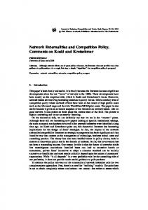 Network Externalities and Competition Policy ... - Springer Link