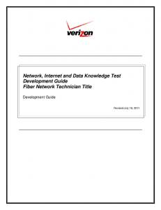 Network, Internet and Data Knowledge Test Development Guide ...