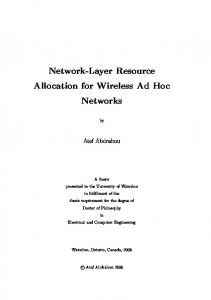 Network-Layer Resource Allocation for Wireless