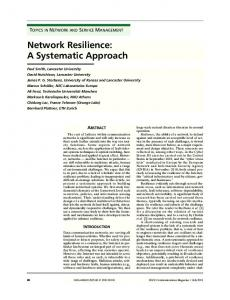 Network Resilience: A Systematic Approach