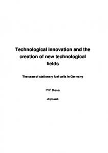 Network resources in technological innovation