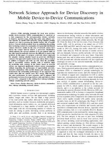 Network Science Approach for Device Discovery in Mobile Device-to ...
