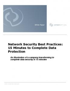 Network Security Best Practices: 15 Minutes to Complete Data ...