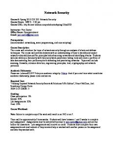 Network Security - CUNY