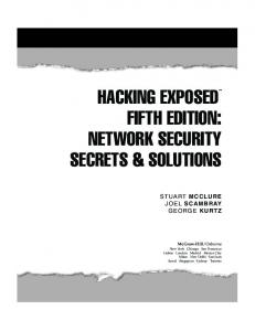 Network Security Secrets & Solutions