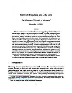 Network Structure and City Size