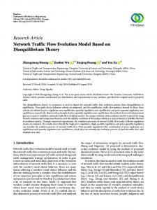 Network Traffic Flow Evolution Model Based on Disequilibrium Theory