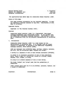 Network Working Group D. Crockford Request for ... - RFC Editor