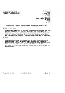 Network Working Group D. Forsberg Request for ... - ETSI docbox