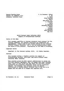 Network Working Group F. Le Faucheur, Editor Request for ... - Docbox