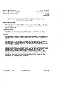 Network Working Group F. Le Faucheur Request for ... - IETF Tools