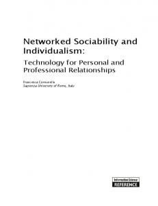 Networked Sociability and Individualism - DiVA