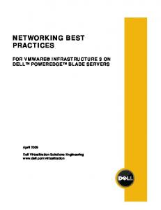 Networking Best Practices for VMware Infrastructure 3 on Dell ...