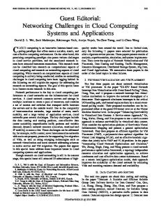 Networking Challenges in Cloud Computing Systems ... - IEEE Xplore