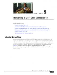 Networking in Cisco Unity Connection 8.x