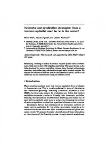 Networks and syndication strategies - Laboratoire de Physique ...