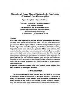 Neural and Fuzzy Neural Networks in Prediction of Natural Gas ...