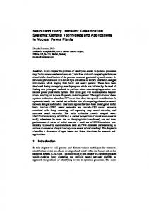 Neural and Fuzzy Transient Classification Systems ... - Semantic Scholar
