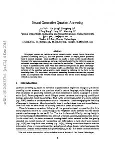 Neural Generative Question Answering