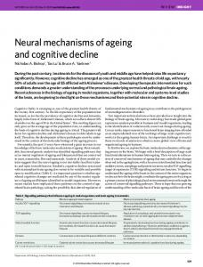 Neural mechanisms of ageing and cognitive decline