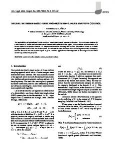 NEURAL NETWORK-BASED NARX MODELS IN NON-LINEAR ...
