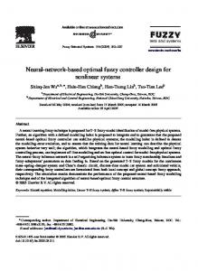 Neural-network-based optimal fuzzy controller design for nonlinear