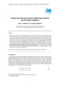 Neural network based vehicle-following model for