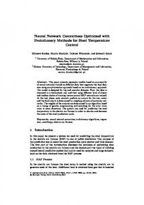 Neural Network Committees Optimized with