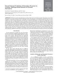 Neural Network Prediction of Secondary Structure ... - ACS Publications