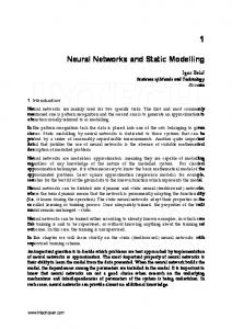 Neural Networks and Static Modelling - InTechOpen