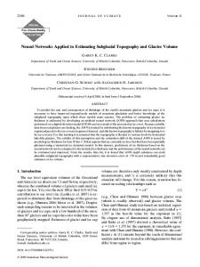 Neural Networks Applied to Estimating Subglacial ... - CiteSeerX