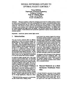 neural networks applied to optimal flight control - Semantic Scholar