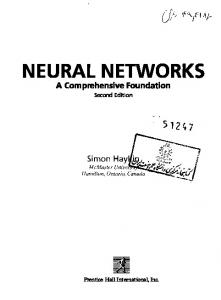 NEURAL NETWORKS - Official Site of Achmad Benny Mutiara ...