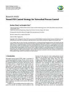 Neural PID Control Strategy for Networked Process Control