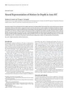 Neural Representation of Motion-In-Depth in Area MT - Journal of