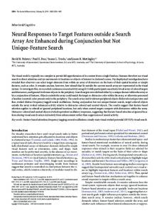 Neural Responses to Target Features outside a Search Array Are ...