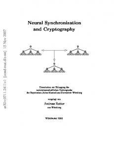Neural Synchronization and Cryptography