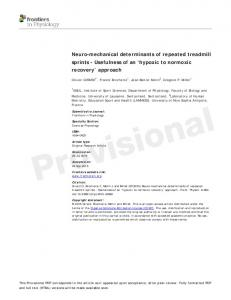 Neuro-mechanical determinants of repeated treadmill ...