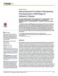 Neuroanatomical Correlates of Recognizing Face ... - Semantic Scholar