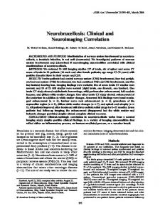 Neurobrucellosis: Clinical and Neuroimaging ... - Semantic Scholar