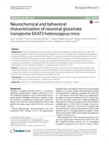Neurochemical and behavioral characterization ... - Biological Research