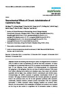 Neurochemical Effects of Chronic Administration of