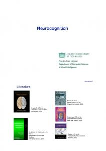 Neurocognition - TU Chemnitz