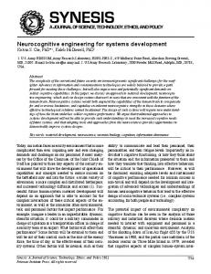 Neurocognitive engineering for systems development - Synesis: A ...