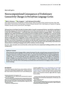Neurocomputational Consequences of Evolutionary Connectivity ...