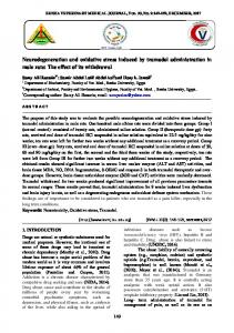 Neurodegeneration and oxidative stress induced by ...