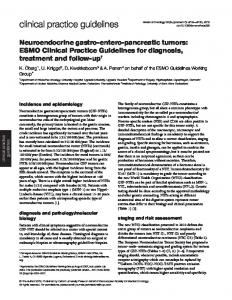 Neuroendocrine gastro-entero-pancreatic tumors: ESMO Clinical ...