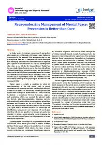 Neuroendocrine Management of Mental Peace - Juniper Publishers